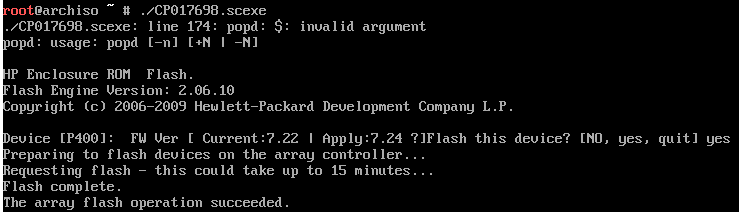 Flashing updates to HP Proliant DL380 G5 - Technicus